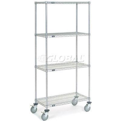 Nexelate® Wire Shelf Truck 36x18x80 1200 Pound Capacity
