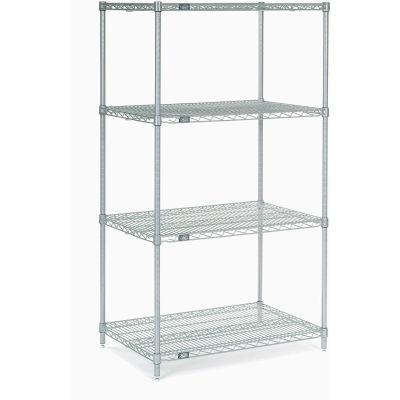 "Nexelate® Silver Epoxy Wire Shelving Starter 30""W x 18""D x 54""H"