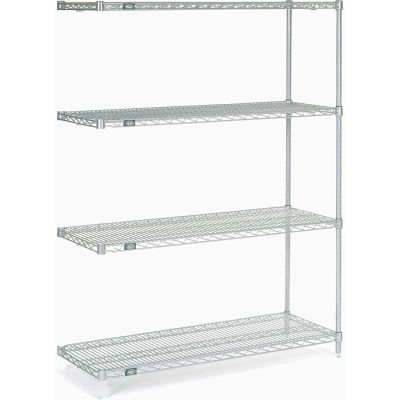 """Nexel® Stainless Steel Wire Shelving Add-On 48""""W x 18""""D x 63""""H"""