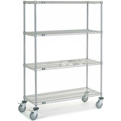 Nexelate® Wire Shelf Truck 48x18x69 1200 Pound Capacity