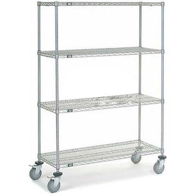 "Nexel®, Chrome Wire Shelf Truck, 48"" x 18""x 69"", 1200 Lb. Capacity, Unassembled"
