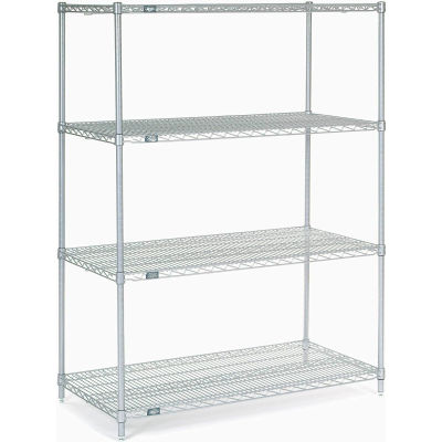 "Nexel® Stainless Steel Wire Shelving Starter 48""W x 24""D x 63""H"