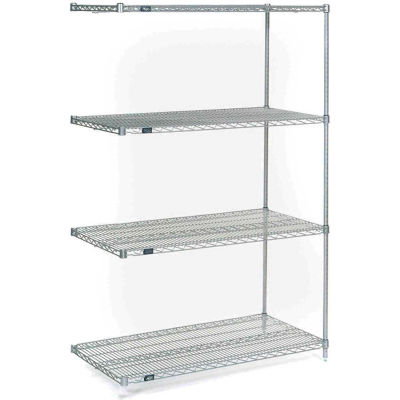 """Nexel® Stainless Steel Wire Shelving Add-On 48""""W x 24""""D x 74""""H"""