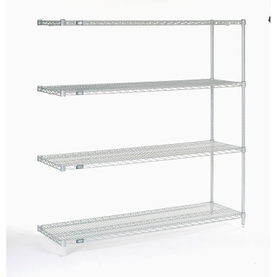 "Nexel® Poly-Z-Brite® Wire Shelving Add-On 60""W x 18""D x 63""H"