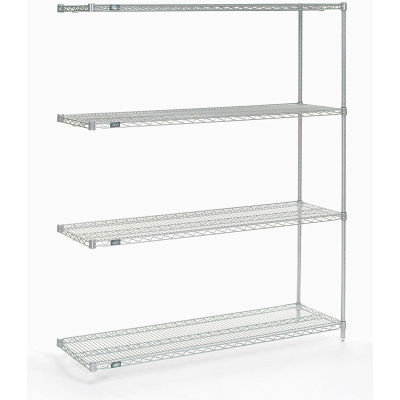 "Nexel® Poly-Z-Brite® Wire Shelving Add-On 60""W x 18""D x 86""H"