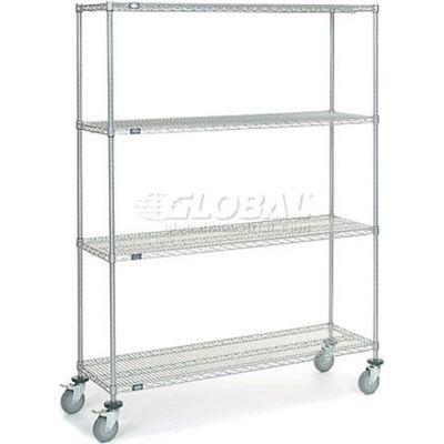 Nexelate® Wire Shelf Truck 60x18x80 1200 Pound Capacity