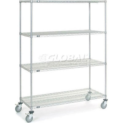 Nexelate® Wire Shelf Truck 60x24x80 1200 Pound Capacity