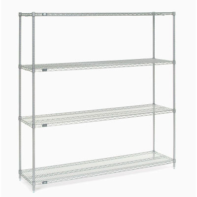 "Nexel® Stainless Steel Wire Shelving Starter 72""W x 18""D x 74""H"