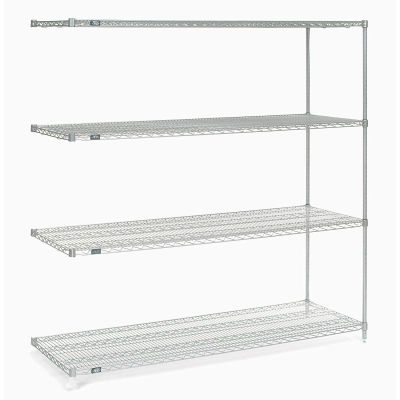 "Nexel® Poly-Z-Brite® Wire Shelving Add-On 54""W x 18""D x 86""H"