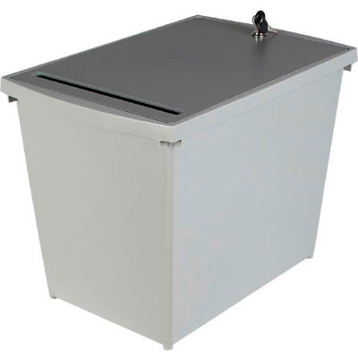 HSM® Personal Document Container - 9-Gallon Capacity - Gray