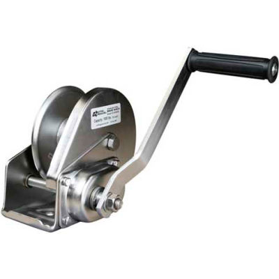 OZ Lifting OZ1000BWSS Stainless Steel Hand Winch with Brake 1000 Lb. Capacity