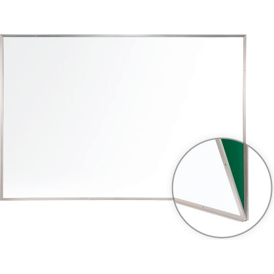 """Ghent Renewal Replacement Whiteboard - Magnetic White Porcelain - 48"""" x 144"""""""