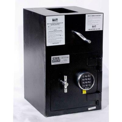 "FireKing Rotary Hopper Drop Safe RH2012-FK1 Electronic Lock 13""W x 14-1/2""D x 21""H 1.12 Cu. Ft Black"