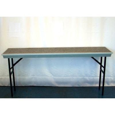 4th Level Add-On for Straight TransPort Riser - Gray Carpet with Black Aluminum Frame
