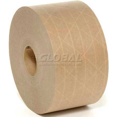 """Holland Gold Banner Reinforced Water Activated Tape 3"""" x 450' 5 Mil Tan - Pkg Qty 10"""