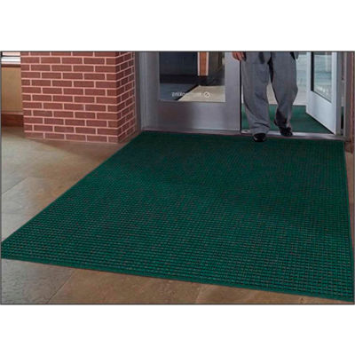 "WaterHog® Entrance Mat Fashion Border 3/8"" Thick 6' x 12' Green"