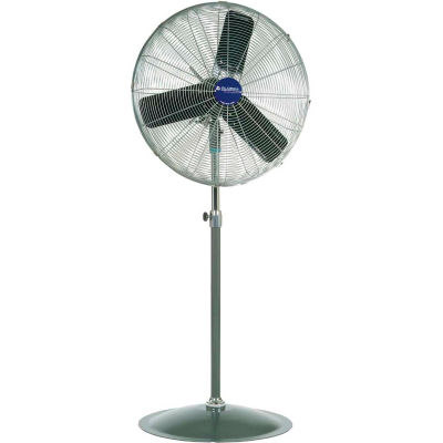 "Global Industrial™ 24"" Industrial Pedestal Fan - Oscillating - 7525 CFM - 1/4 HP"