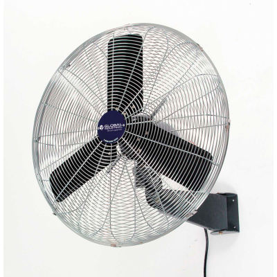 "Global Industrial™ 30"" Industrial Wall-Mounted Oscillating Fan, 8775 CFM, 1/3 HP"