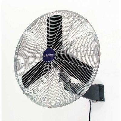 "Global Industrial™ 30"" Oscillating Wall Mount Fan, 3 Speed, 8775 CFM, 1/3 HP, Single Phase"